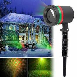 Proiector Laser Light cu lumini verzi si rosii pentru exteriorul casei