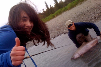 Photo: Mia Fox of Anchorage Alaska with a King salmon that was caught and released on the Kasilof river located on the Kenai peninsula.