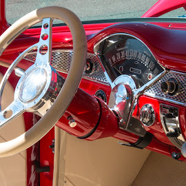 Grandpa's Car by Kathy Suttles - Artistic Objects Other Objects ( red, classic car, suttleilmpressions, grandpa's car,  )