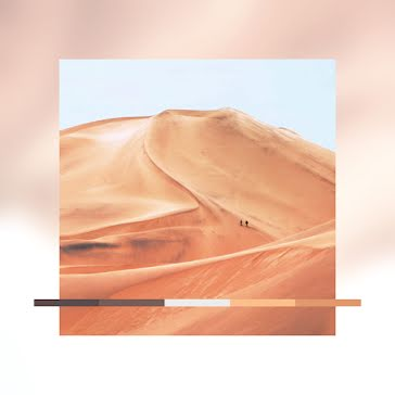 Light Dunes Color Palette - Instagram Post template
