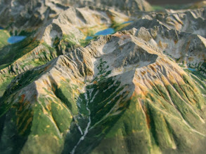 Photo: Waksmundzka Valley and Koszysta, High Tatra Mts. Relief Map