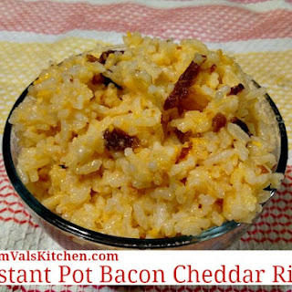 Instant Pot Bacon Cheddar Rice.