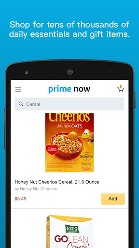 Amazon Prime Now screenshot 2