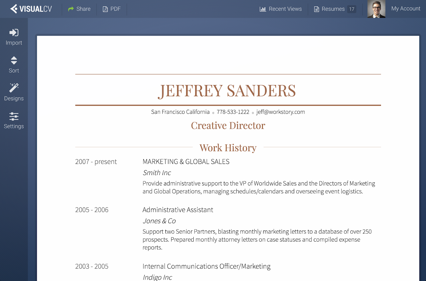 visualcv resume builder android apps on play