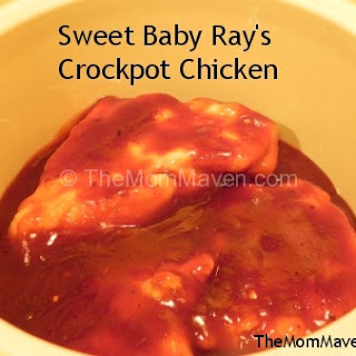 : Sweet Baby Ray's Crockpot Chicken.