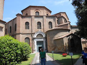 Photo: Going into the Basilica of San Vitale ...