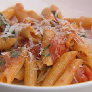 Penne with Fresh Tomato Sauce.