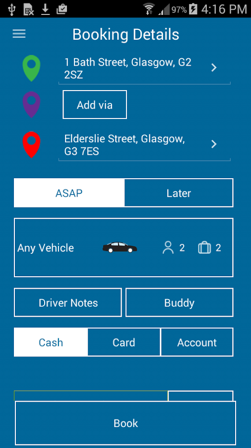 Hampden Cabs and Private Hire- screenshot