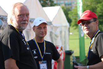 Photo: Håkan Erlandsson, Daniel Zetterfors and Roland Hansson, Crew. Photo: Patric Fransson