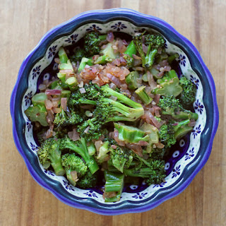 Broccoli with Garlic, Ginger, and Lime