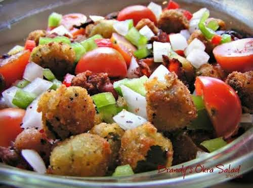 "Click Here for Recipe: Brandy's Okra Salad ""We can not have a..."