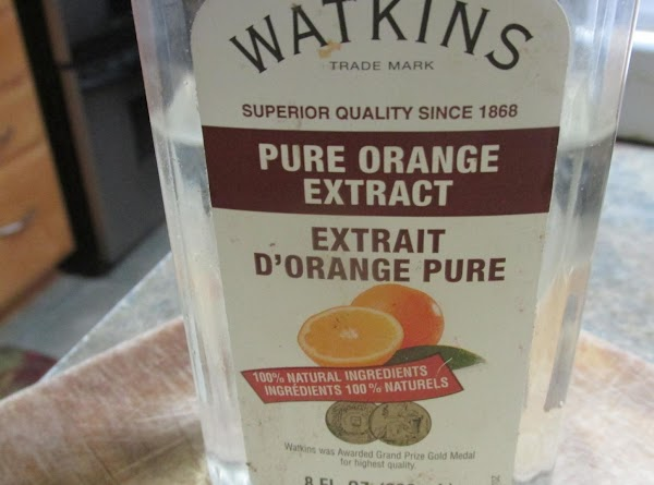 Add orange extract and continue beating to blend.