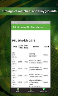 PSL 2018 Schedule, Teams & Matches Updates - náhled
