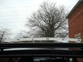 Photo: Reverse cut frosted vinyl in the correct font for the Renault 5 GT Turbo Raider Rear Window Logo