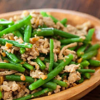 Green Beans with Chinese Preserved Radish Stir Fry.