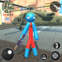 Spider Rope Hero Stickman Crime Gangster 2019 icon