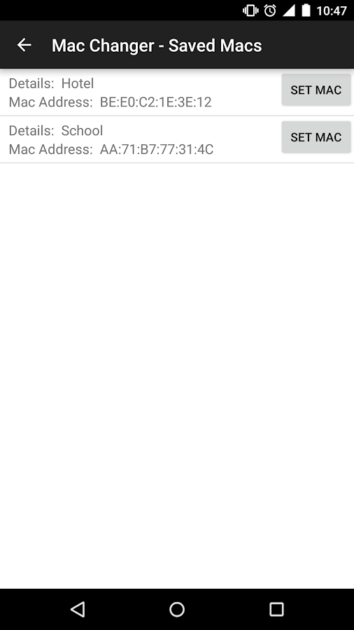 Wireless Mac Address Changer- screenshot