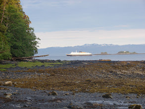 Photo: The Alaska Ferry heads south down Tongass Narrows toward Ketchikan.