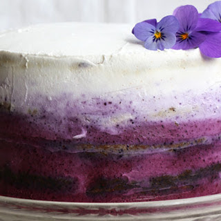 Blueberry Cake With Coconut Frosting [Vegan, Gluten-Free]