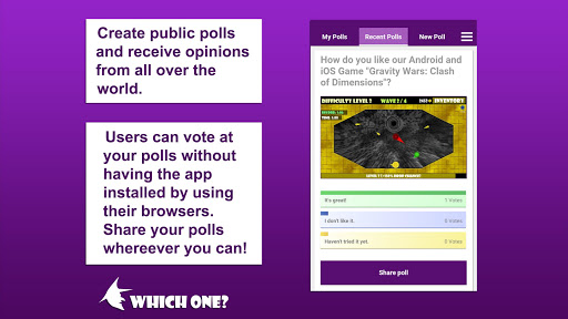 Foto do Which One? Polls - Vote, Compare & Share