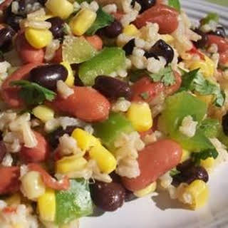 Mexican Bean and Rice Salad.