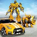 Rhino Robot Car Transform Robot Games Police Robot icon