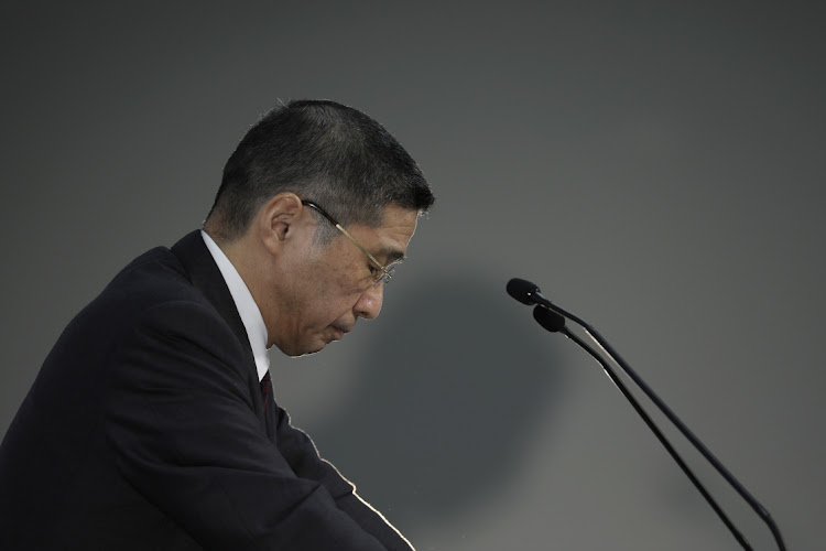 Hiroto Saikawa, president and chief executive officer of Nissan Motor Co, attends a news conference in Yokohama, Japan, on Tuesday, Feb. 12, 2019. Picture: BLOOMBERG/KIYOSHI OTA