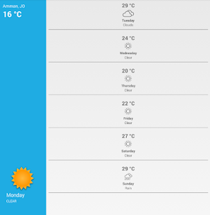 ‫Jordan Weather طقس الأردن‬‎- screenshot thumbnail