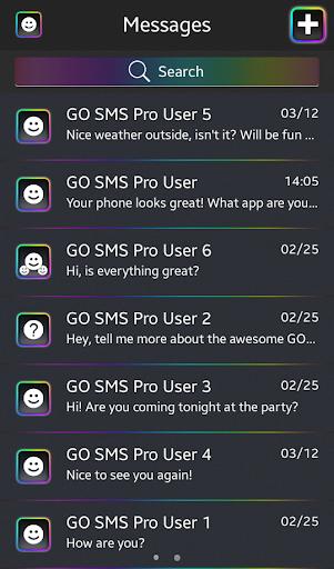 GO SMS Proのネオン虹