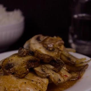 Baked Italian Chicken with Mushrooms.
