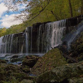 Bluehole Falls by Thomas Jones - Landscapes Waterscapes ( old stone fort, waterscape, waterfall, tennessee, bluehole falls, landscape, manchester, infinity prime photography )