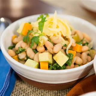 Slow Cooker White Bean and Kale Chili.