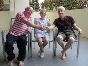 Photo: With Margaret and Peter Dorrell in Canberra. We drink Cath and Garrys donated champagne - Noice !