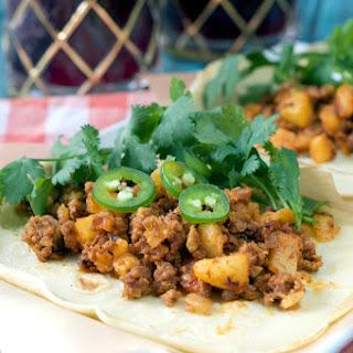 Paleo Chorizo and Potato Tacos.