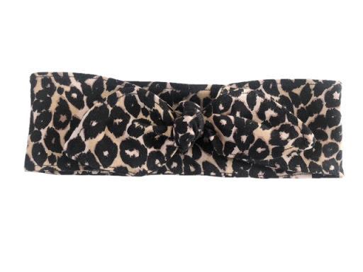 Made by DD - Hårband med knut Leopard