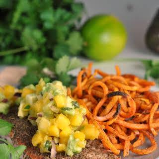 Jamaican Jerk Salmon with Fresh Mango Salsa.