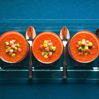 Gazpacho With Watermelon and Avocado