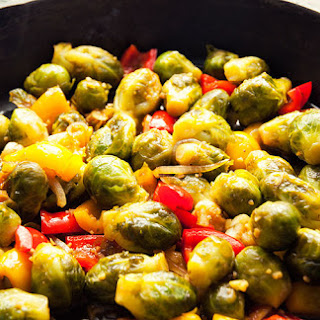 Asian Stir-Fried Brussels Sprouts
