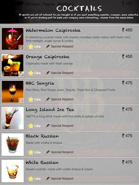 British Brewing Company menu 6