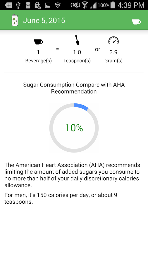Sugar Savvy Beverage- screenshot
