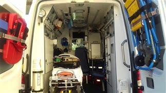 Imagen de archivo del interior de una ambulancia.