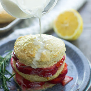 Lemon and Rosemary Strawberry Shortcakes