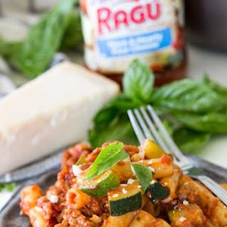 Spicy Sausage and Zucchini Skillet Ziti