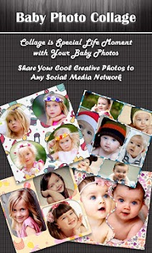 baby photo collage editor by selfie photo collage maker poster