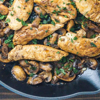 Balsamic Chicken with Mushrooms and Thyme.
