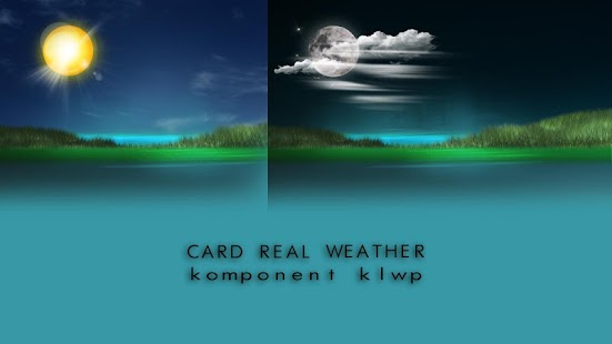 Komponent Weather Card Real Klwp - náhled