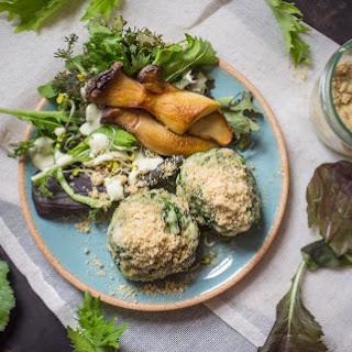 Fluffy Spinach Dumplings With Walnut Parmesan [Vegan].