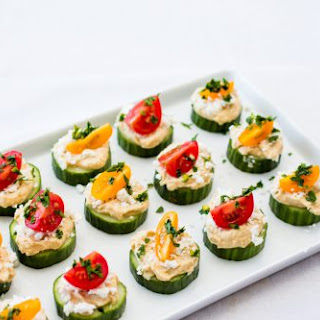 Cucumber And Houmous Bites.