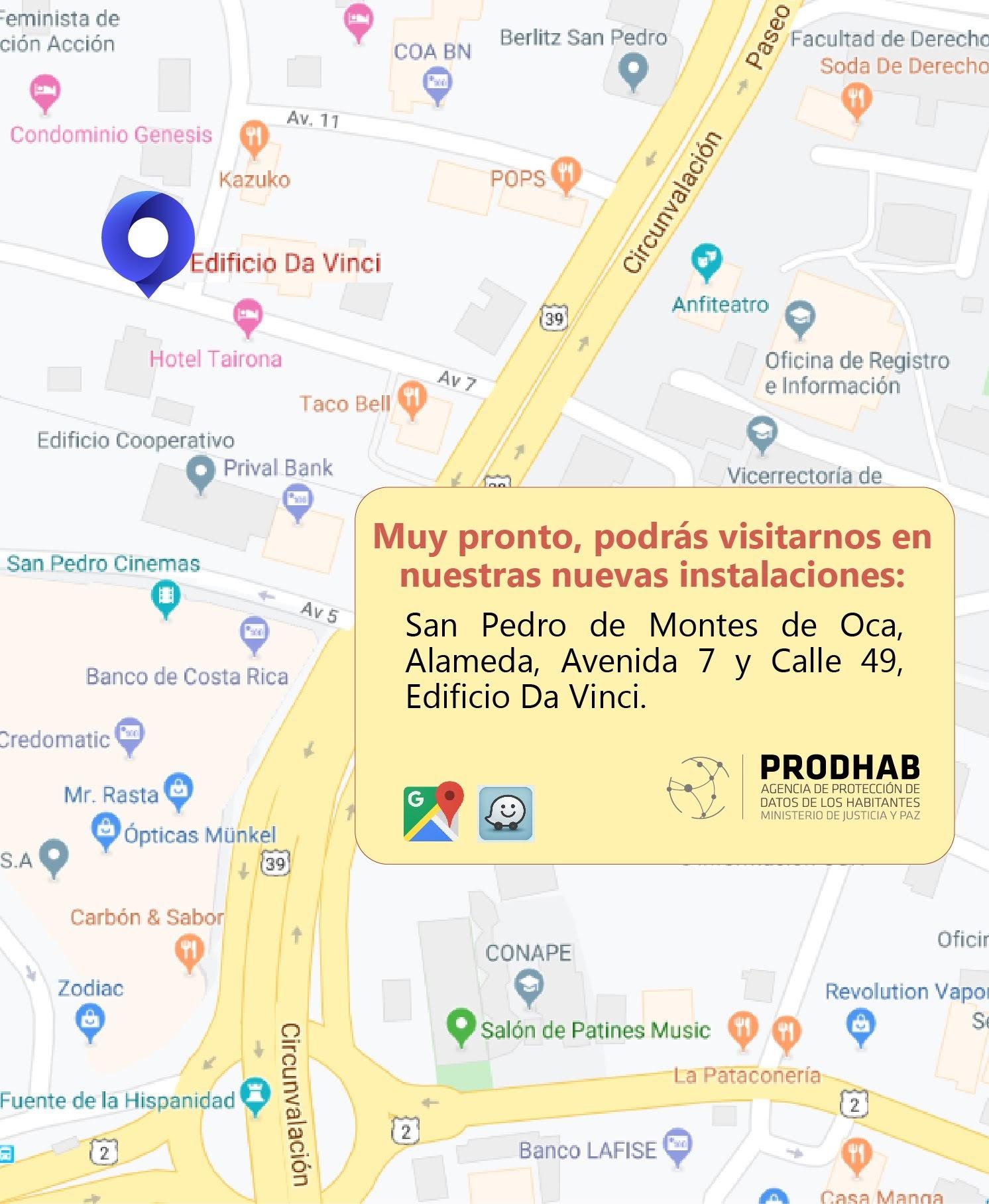Mapa de nueva ubicación