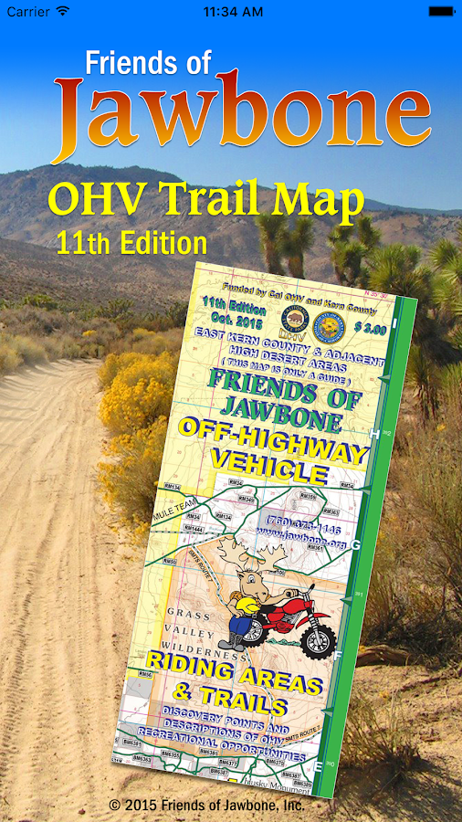 FOJ OHV Map- screenshot
